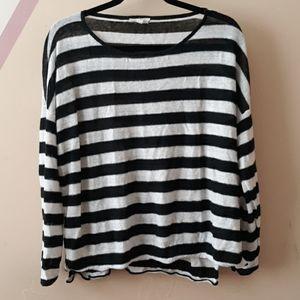 Eileen Fisher Oversized Striped Shirt